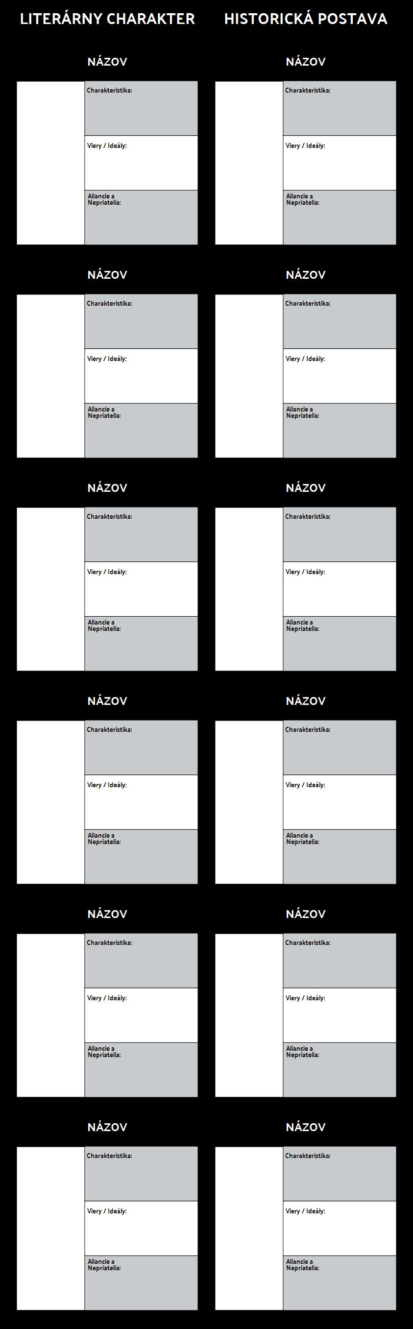 Šablóna T-grafu Znakov Algory