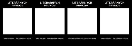 T-graf Literárnych Prvkov