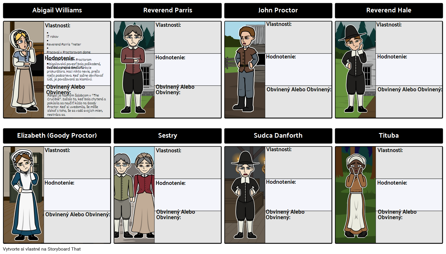 The Crucible Characters