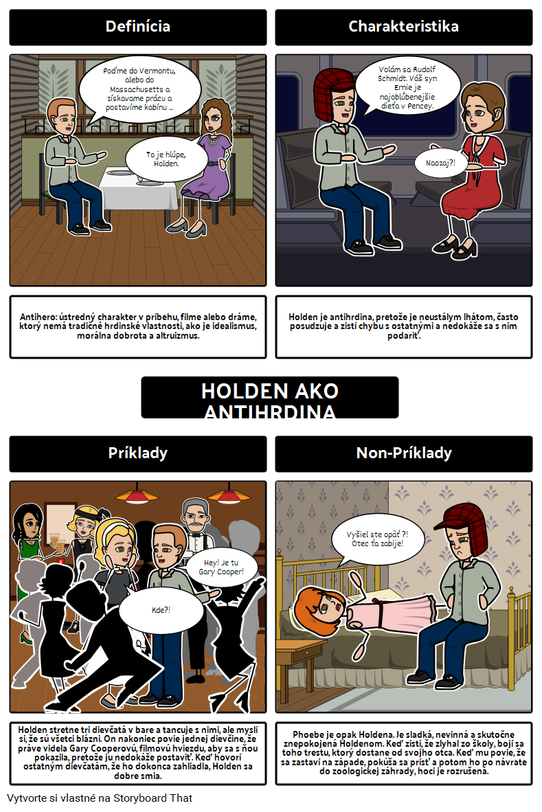 Zachytávač v Žití Holden ako Antihrdina