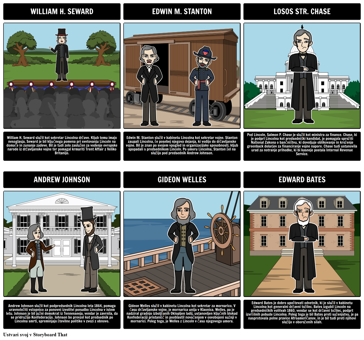 Abraham Lincoln Predsedstvo - Glavni Številke Lincolna Kabineta