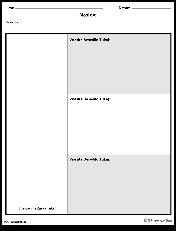 Character Chart - 3 Vprašanja