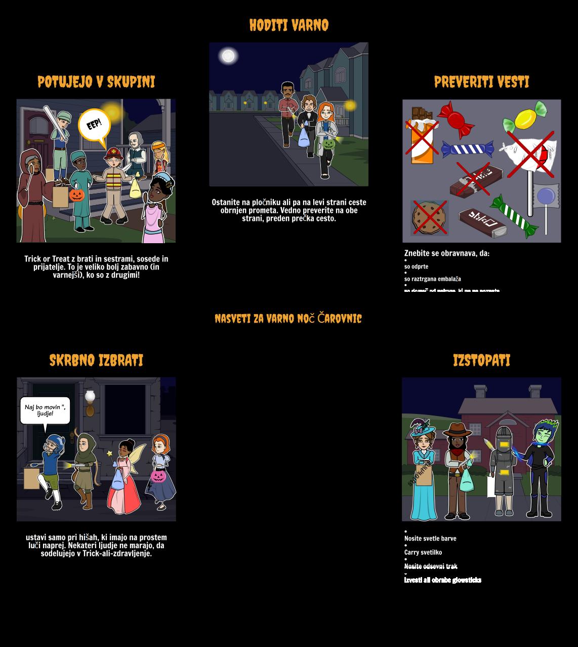 Halloween Dejavnosti - Varnost