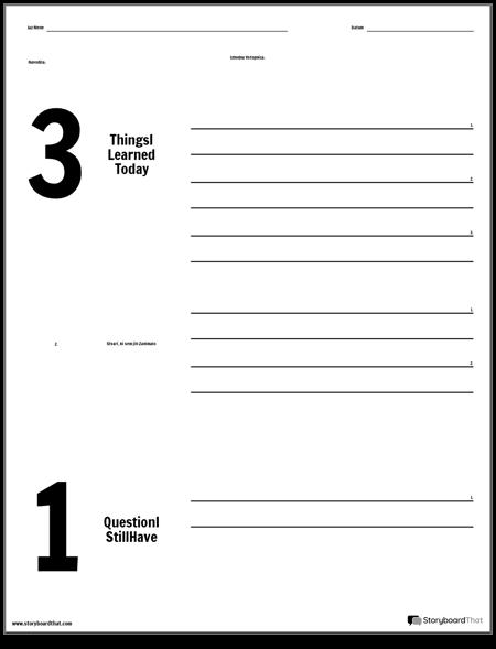 Izhodna karta - 3-2-1