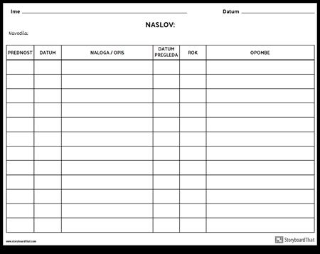 Kontrolni Seznam Omrežja
