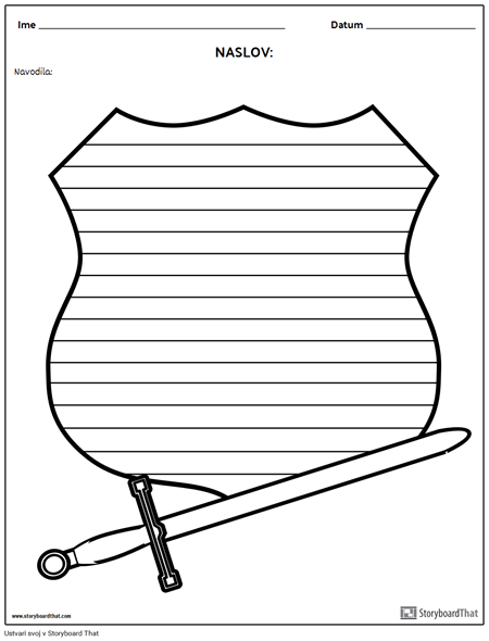 Kreativno Pisanje - meč in Ščit