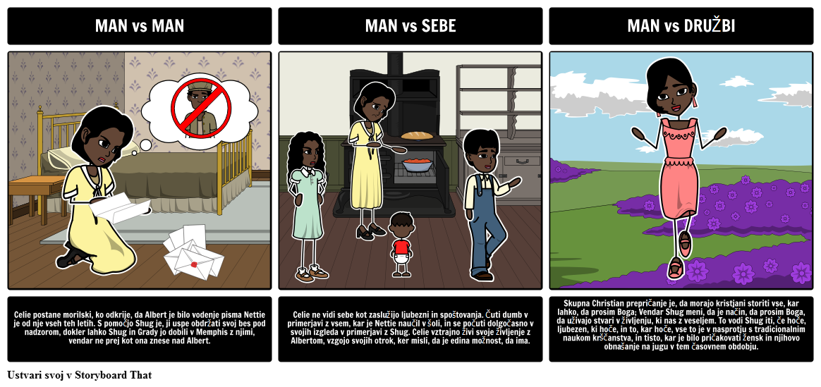 Literarna Konflikt v The Color Purple