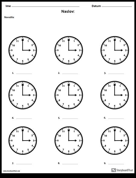 Napišite čas