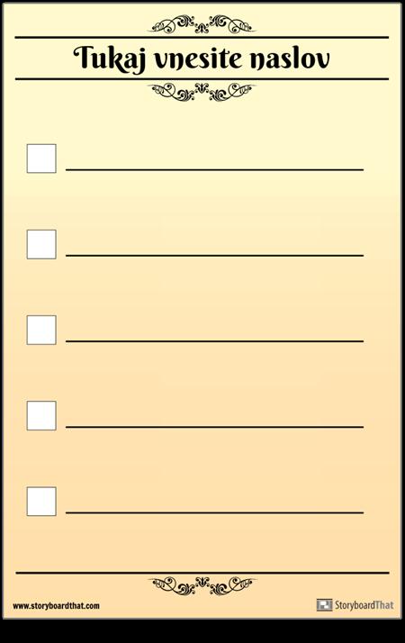 Osnovni 5 Kontrolni Seznam