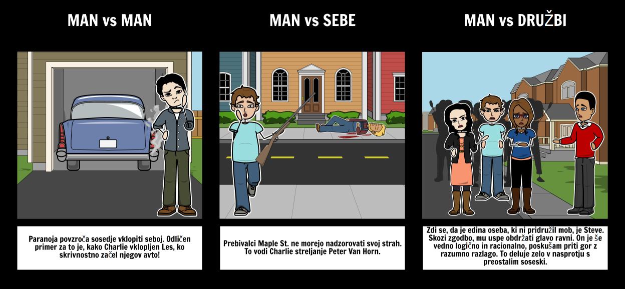 Pošasti na Maple St. Literarne Spopadih