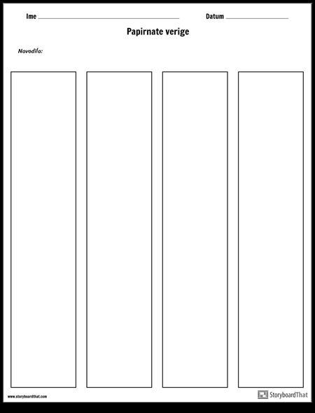 Predloga Papirnih Verig