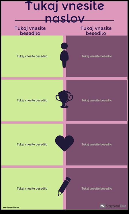 Predloga za Primerjavo Infographic