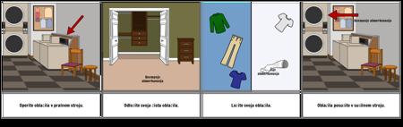 Prvi ... Zadnji Primer - Pranje Oblačil