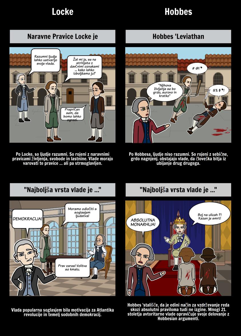 Razsvetljenstvo Znanstvena Revolucija - Locke vs. Hobbesa