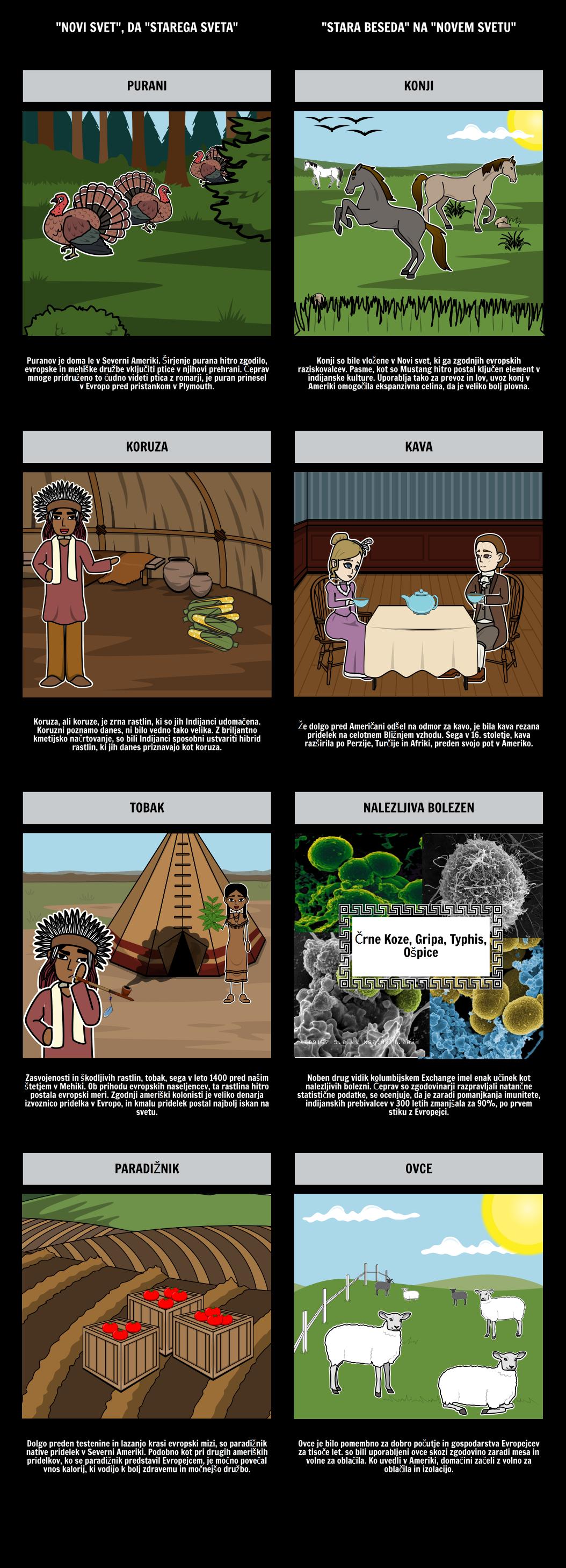 Starost Raziskovanje - Kolumbom Exchange T-Graf