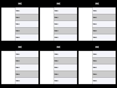 Tabela znakov 5-Polje Predloga