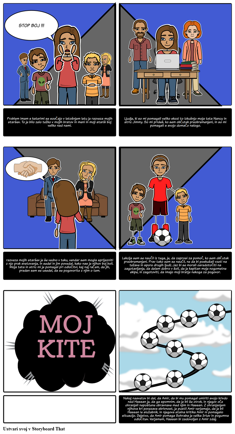 Ustvarite Svoj Kite Storyboard Projekt The Kite Runner