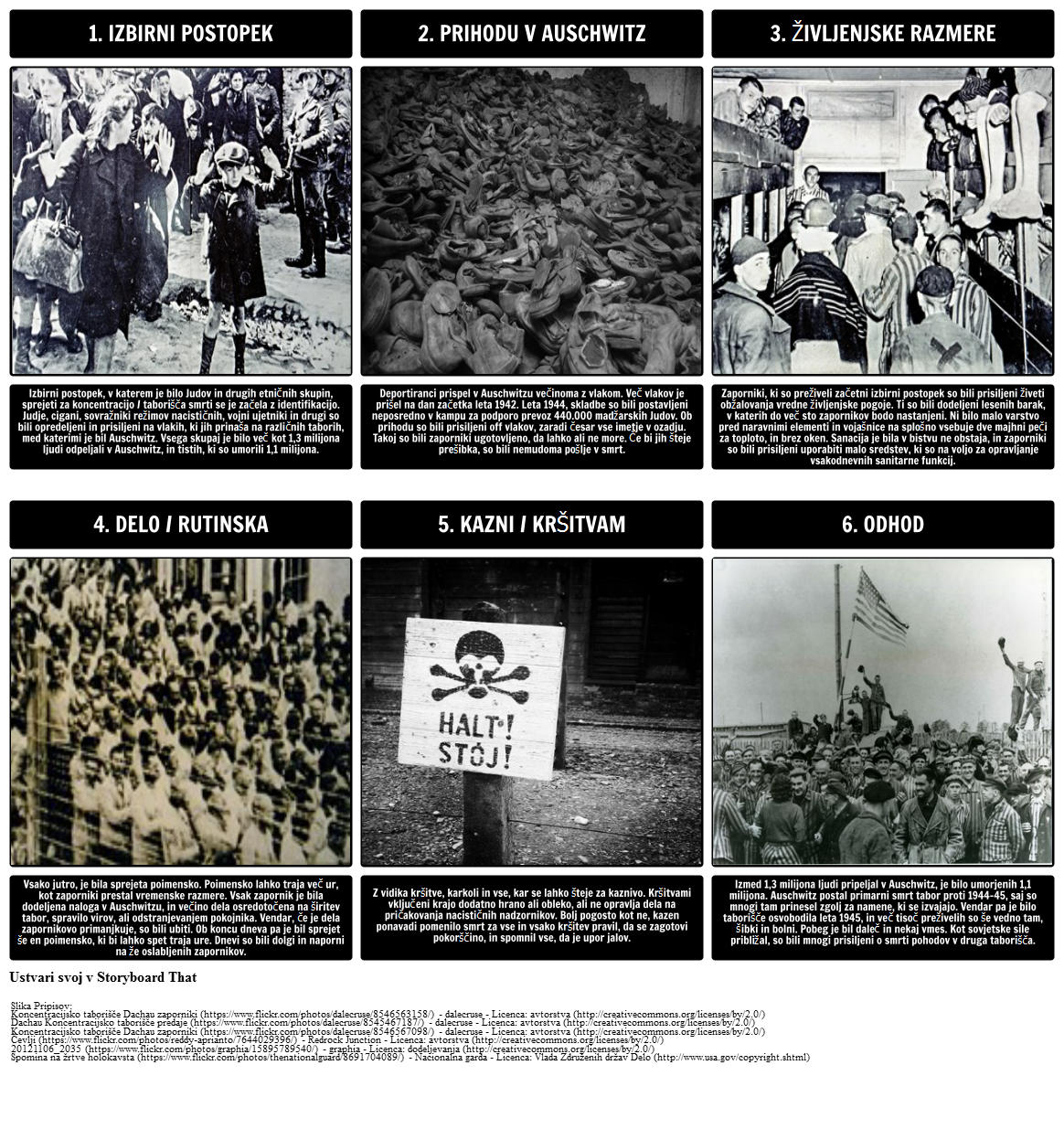 Zgodovina Holokavsta - Življenje v Auschwitzu