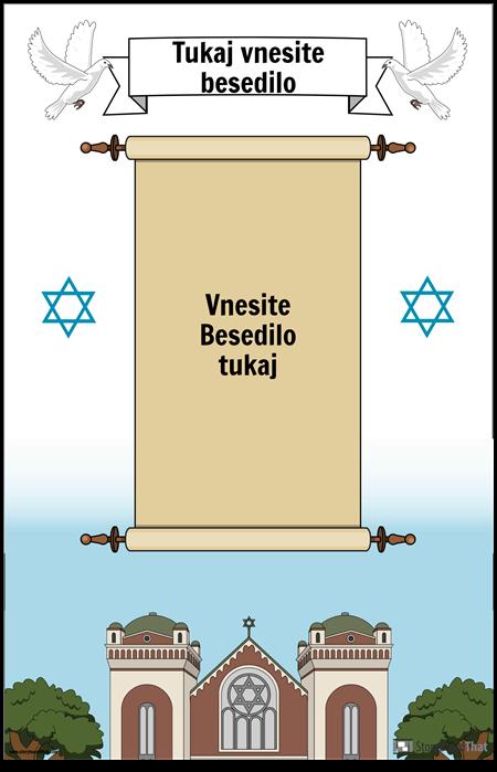 Židovski plakat s svitkom