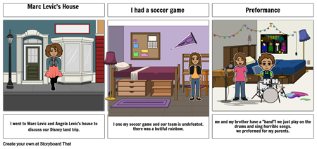 My first story board