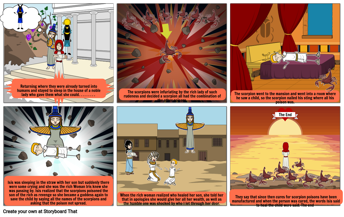 The Egyptian myth of Isis and the seven scorpions-PART 2
