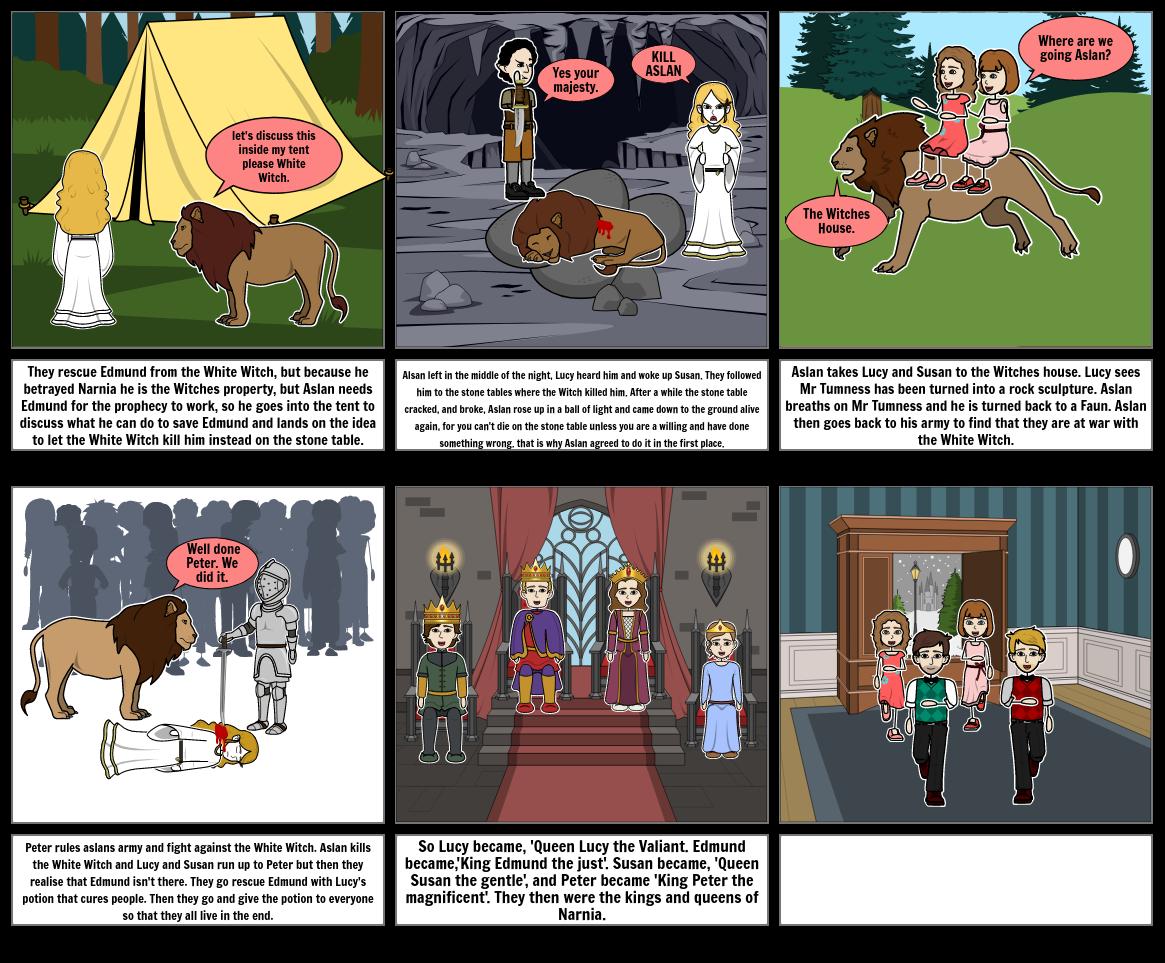Narnia Story Board