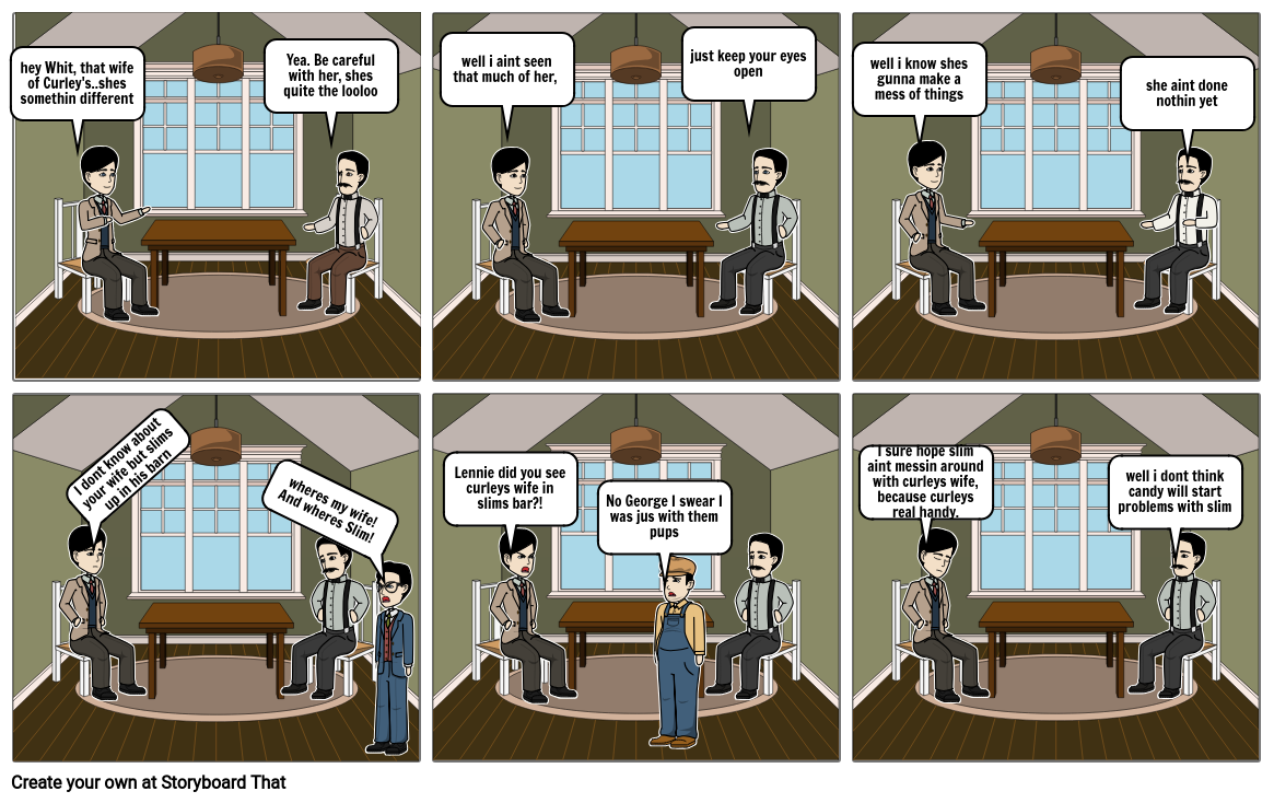 Of MICE AND MEN STORY STRIPS
