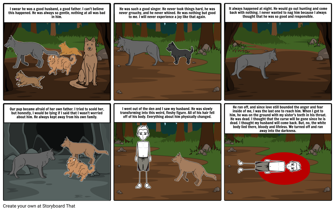 The Wife's Story Comic Strip