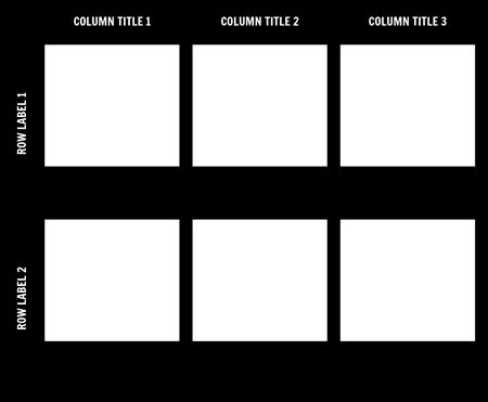 2x3 Chart Template