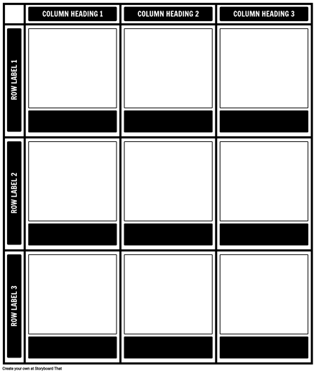 3x3 Chart Template