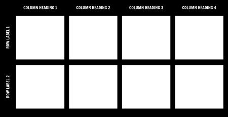 Blank 2x4 Chart