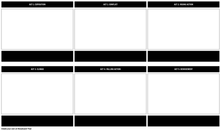 Five-Act Structure Play Diagram Template