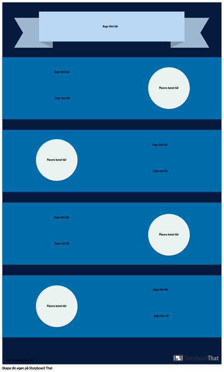 Blå Infographic Mall