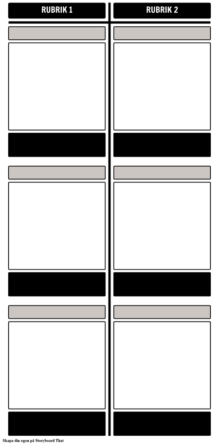 Blank Jämförelse T-diagram