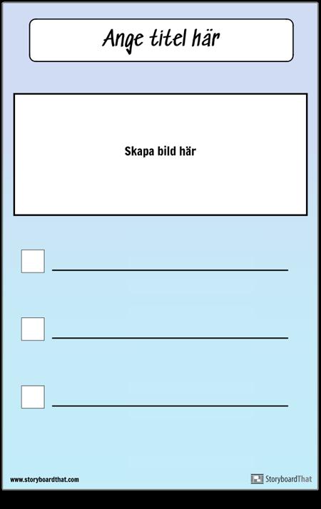Checklista med bild