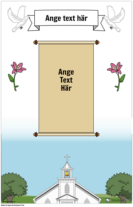 Christian Poster with Scroll