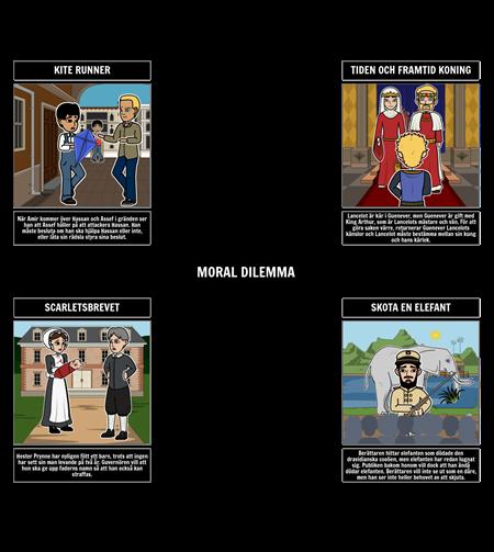 Exempel på Moraliska Dilemmaer i Litteratur
