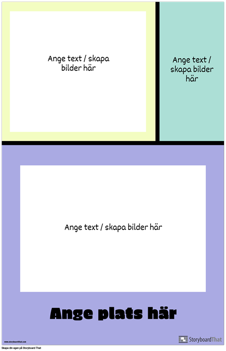 Färgblock Reseplakat