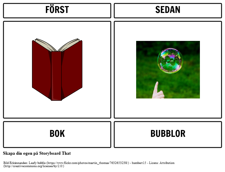 First Book Då Bubble Exempel