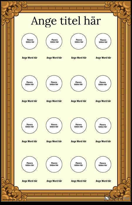 Framed Visual Vocabulary Poster