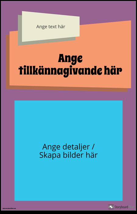 Groovy Tillkännagivande Affisch