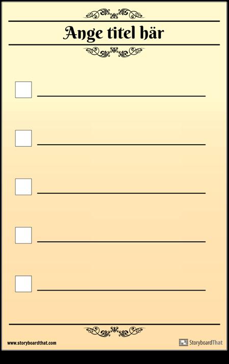Grundläggande 5 Kontrollchecklista