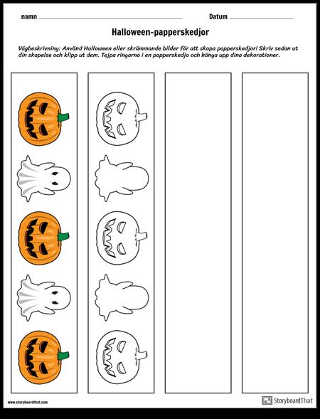 Halloween-papperskedjor