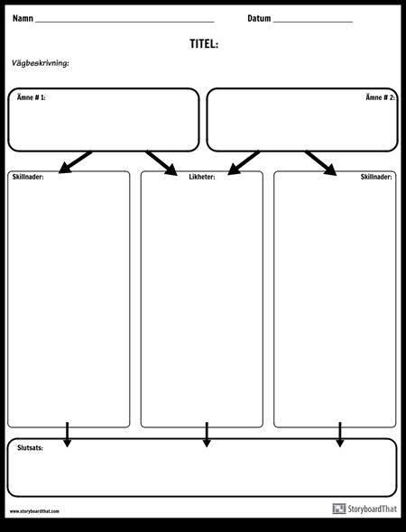 Jämför Contrast Column Chart