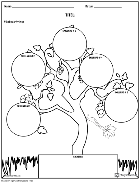 Jämför Kontrast Tree