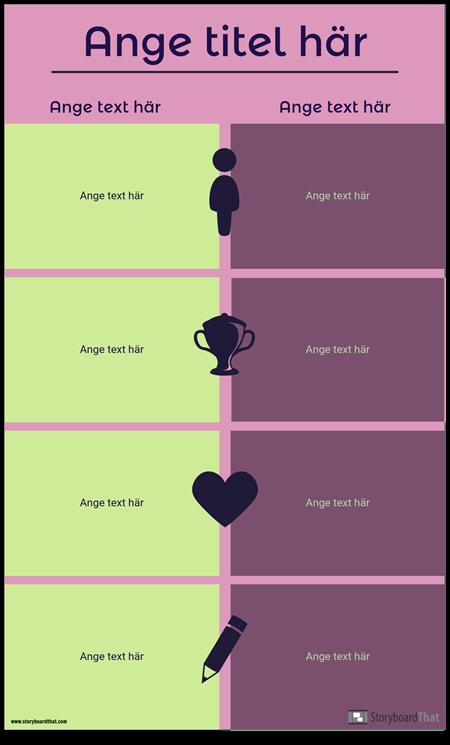 Jämförelse Infographic Mall