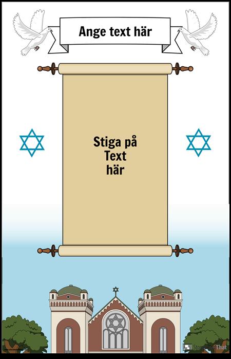 Judisk affisch med rullning