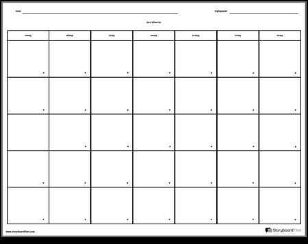 Kalender - 7 dagar