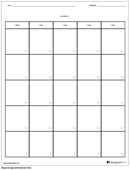 Kalender - Veckodag