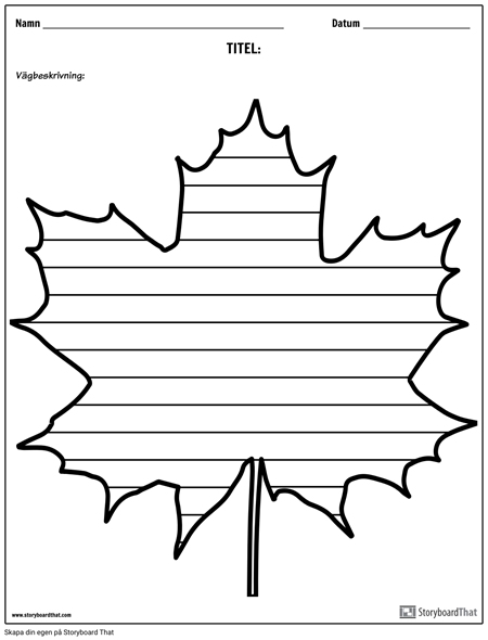 Kreativ Skrivning - Maple Leaf